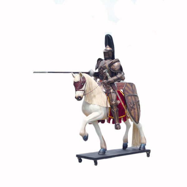 Knight Horseback Life Size Medieval Figure